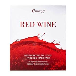 Набор/Гидрогел. маска д/лица RED WINE REGENERATING SOLUTION HYDROGEL MASK PACK, 5шт