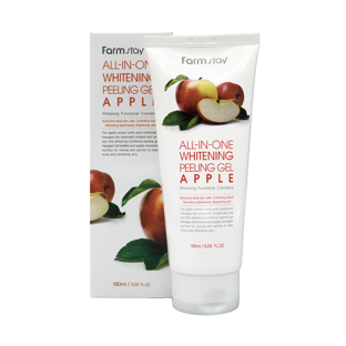 Гель c экстрактом яблока All In One Whitening Peeling Gel Apple
