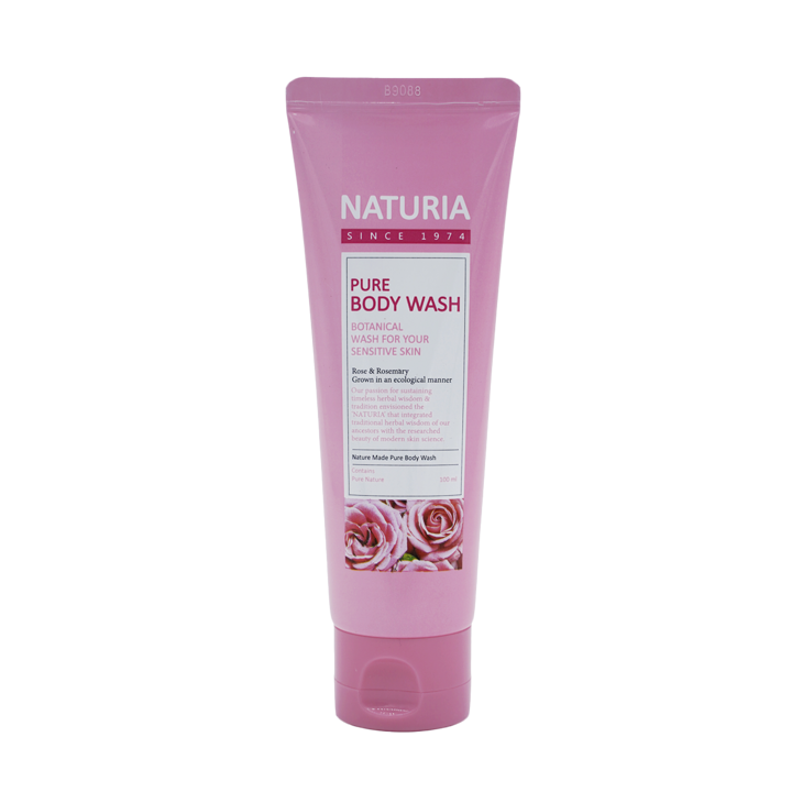 [NATURIA] Гель для душа РОЗА/РОЗМАРИН PURE BODY WASH (Rose & Rosemary), 100 мл