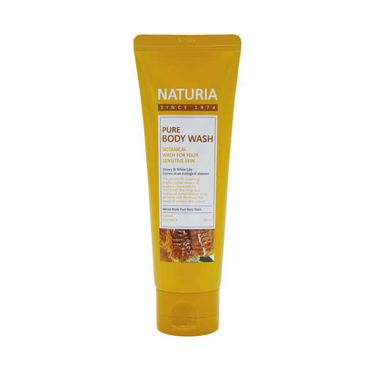 [NATURIA] Гель для душа МЕД/ЛИЛИЯ PURE BODY WASH (Honey & White Lily), 100 мл